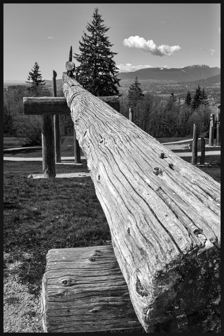 Burnaby totems again b&w