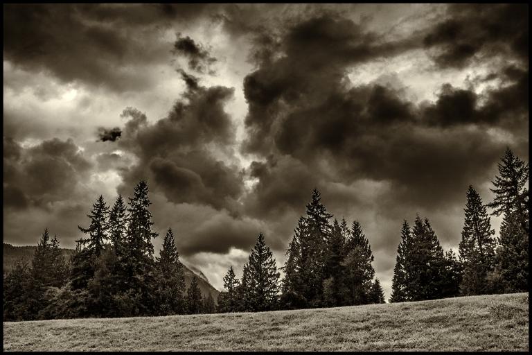 clouds over Kilmer Park